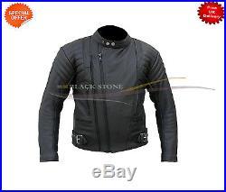 Hommes Terminateur Style Noir Original Cuir Vachette Veste de Motard Toutes