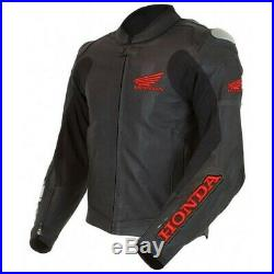 Honda Homme Motor Veste En Cuir Moto Chaqueta De Cuero Motorrad Leder Jacke Ce