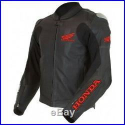 Honda Motards Hommes Veste En Cuir Giacca di Pelle Moto Chaqueta de Cuero Moto