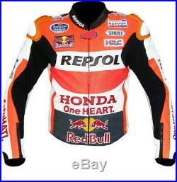 Honda Repsol Hommes Veste En Cuir Giacca di Pelle Moto Chaqueta de Cuero Moto CE