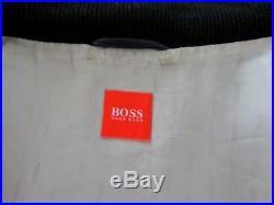 Hugo Boss Blouson Veste Cuir Noir EU50 Grand Multi Poches