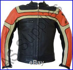 INFERNO neXus Veste de Moto en Cuir Blouson Motard Toutes tailles
