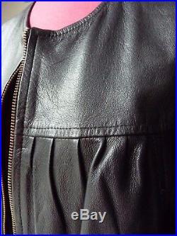 ISABEL MARANT blouson veste paletot noir en cuir taille 1 soit 36/38