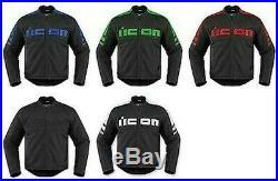 Icon Motorhead 2 Cuir Moto Rue Veste Choisir Couleur & Taille