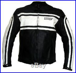 Italienne blouson veste moto en cuir vetements NEUF L XL XXL 3XL 4XL blanc 52 54