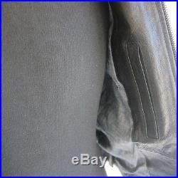 J-1222396 Neuf Belstaff Blouson Clous Noir Fermeture Éclair Veste Cuir Taille 44