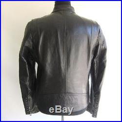 J-1225396 Neuf Belstaff Blouson Clous Noir Ru Veste Cuir Taille 50