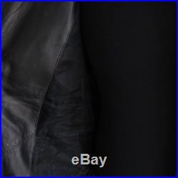J-1232348 Neuf Belstaff Noir Blouson Fermeture Éclair Veste Cuir Taille 48