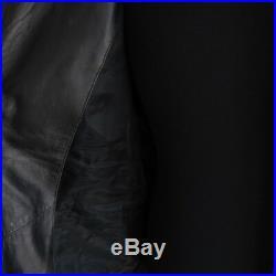 J-1234348 Neuf Belstaff Noir Blouson Fermeture Éclair Veste Cuir Taille 52