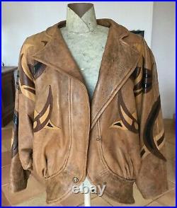 J. C. Jitrois. Blouson/Veste Femme Cuir Vintage 1983 Modèle Coq Numéroté Signé