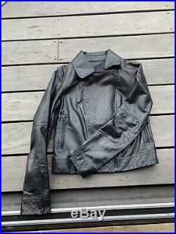 Joli Blouson Perfecto Biker Chanel T 40 =38 Cuir