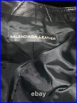Joli Blouson Perfecto Biker Lacet Balenciaga T 34 Cuir V 2400 E
