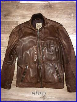 Jolie veste blouson en cuir d'agneau marron CHEVIGNON taille L EXCELLENT ETAT