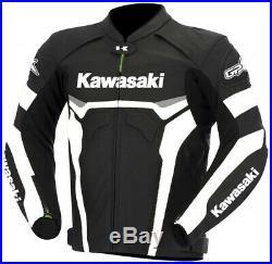 KAWASAKI Veste en Cuir MOTOGP Moto Biker Cuir Veste Hommes Moto Cuir Veste 50,58