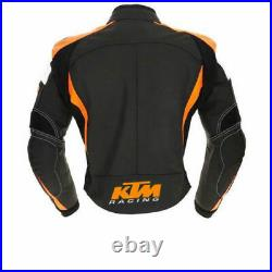KTM Courses Veste en Cuir de Motard Veste en Cuir de Moto Veste Motard en Cuir