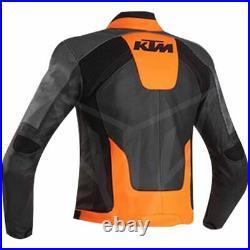 KTM Hommes Moto Veste en Cuir Piste Courses MOTOGP Vestes de Motard en Cuir CE