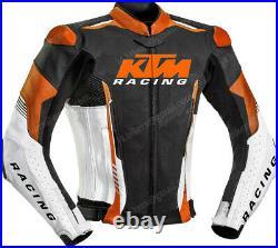 KTM Veste Motard en Cuir Courses Veste en Cuir de Motard Veste en Cuir de Moto