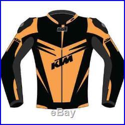 KTM Veste Moto Hommes Moto Cuir Veste Course Leatherjackets