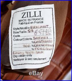 K Zilli France Brigant Marron Crocodile Cuir Blouson Bomber Veste 54 44 XL