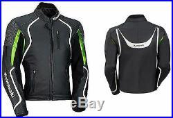 Kawasai Hommes Moto Veste En Cuir Moto Chaqueta De Cuero Motorrad Leder Jacke Ce