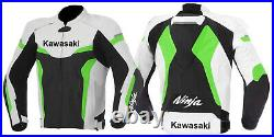 Kawasaki Hommes Moto Veste en Cuir Courses MOTOGP Motard Blousons Cuir Vestes CE