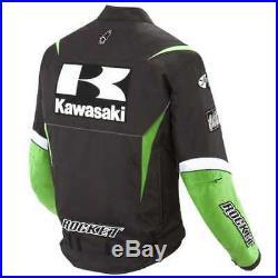Kawasaki Moto Costume En Cuir Moto Veste En Cuir Motards Courses Pantalon