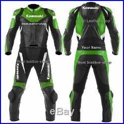 Kawasaki Ninja Moto Costume En Cuir Moto Veste En Cuir Motards Courses Pantalon