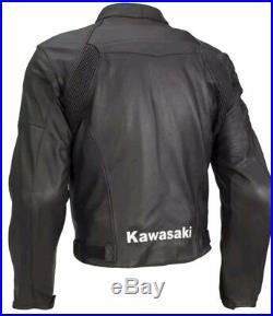 Kawasaki Vêtement En Cuir Motorbike Hommes Biker Cuir Veste Moto Cuir Veste