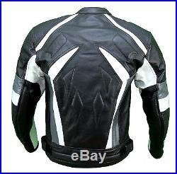 Kc022 Blouson veste cuir moto quad noir KARNO-MOTORSPORT THUNDER