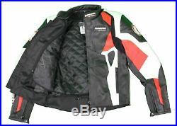 Kc024 Blouson veste cuir moto KARNO rouge PHANTOM doubl. Hiver amovible