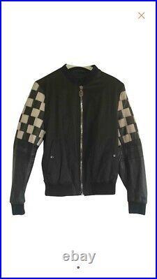 LANVIN Bomber Blouson Biker Cuir Python IT. 46 Leather Jacket Snakeskin