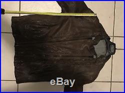 MAGNIFIQUE blouson veste marron BOSS cuir de veau calfskin brown leather jacket
