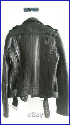 MAJE Perfecto blouson veste en cuir Kicelui Audrey Lombard T. S 36