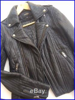 MAJE Perfecto blouson veste en cuir Kicelui T. S 36