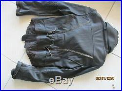 M F Girbaud, splendide veste blouson cuir agneau chocolat dark 38