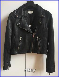 Magnifique Perfecto cuir Isabel Marant Etoile NEUF! Blouson Veste Agneau Noir