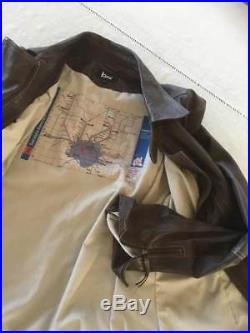 Magnifique blouson ou veste en cuir agneau TTBE de qualité T. 44 marron
