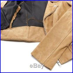 Maje Veste en Cuir Gr. 36 Braun Femmes Veste en Cuir Cuir Blouson Motard Veste