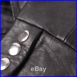 Maje Veste en Cuir Gr. De 36 Fr 38 Bleu Veste Femme Veste en Cuir Blouson