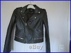 Maje perfecto blouson veste cuir Basalt kaki collection actuelle 38 TBE