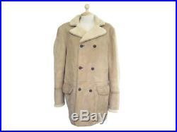 Manteau Faconnable Peau Lainee 52 L Cuir Mouton Retourne Blouson Veste Coat 950