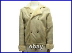 Manteau Hermes Blouson Taille 50 M En Cuir Agneau Retourne Shearling Coat 9300