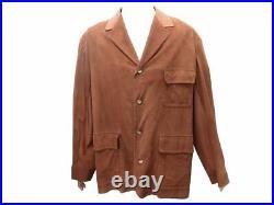 Manteau Hermes XL 54 Cuir Agneau Marron Blouson Veste Brown Leather Coat 5000