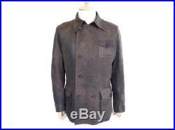 Manteau Ugg L 50 En Cuir Marron Pour Homme Blouson Veste Leather Jacket 720