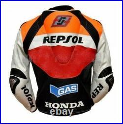 Marc Márquez 93 Veste en Cuir de Moto Courses MOTOGP Vestes de Motard Cuir CE