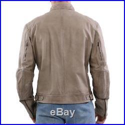 Matchless Veste Homme en Cuir Mick Blouson Colonial Vert 113105 Taille 3XL
