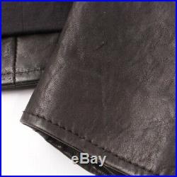 Max & Co. Veste en Cuir Gr. De 34 Noir Femme Manteau Blouson Style
