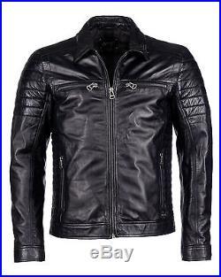 Veste cuir homme noir xl