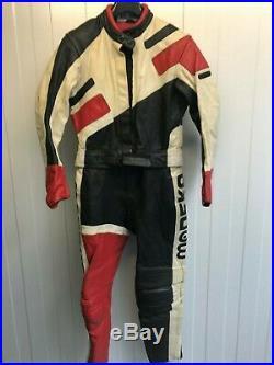 Modeka Cuir Vintage Moto Veste & Pantalon Set Taille 44 (mc1041)