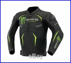 Monster Energy Veste en Cuir de Moto Courses MOTOGP Vestes de Motard en Cuir CE